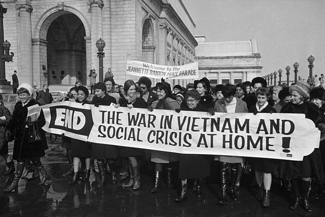 Jeanette Rankin Brigade Protesting Vietnam War